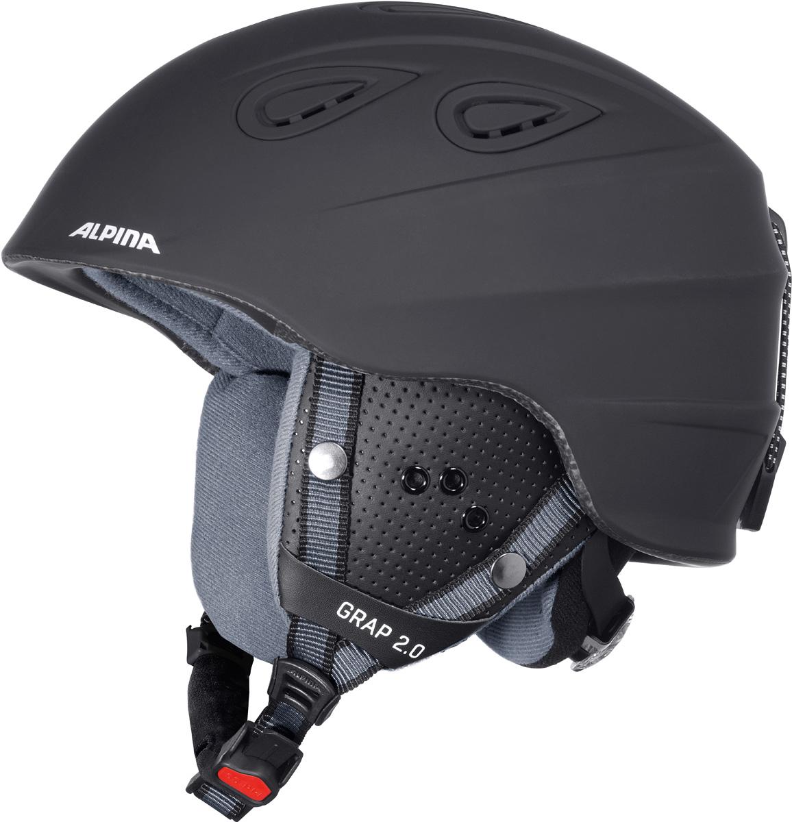 """Шлем горнолыжный Alpina """"Grap 2.0"""", цвет: черный. A9085_33. Размер 54-57"""