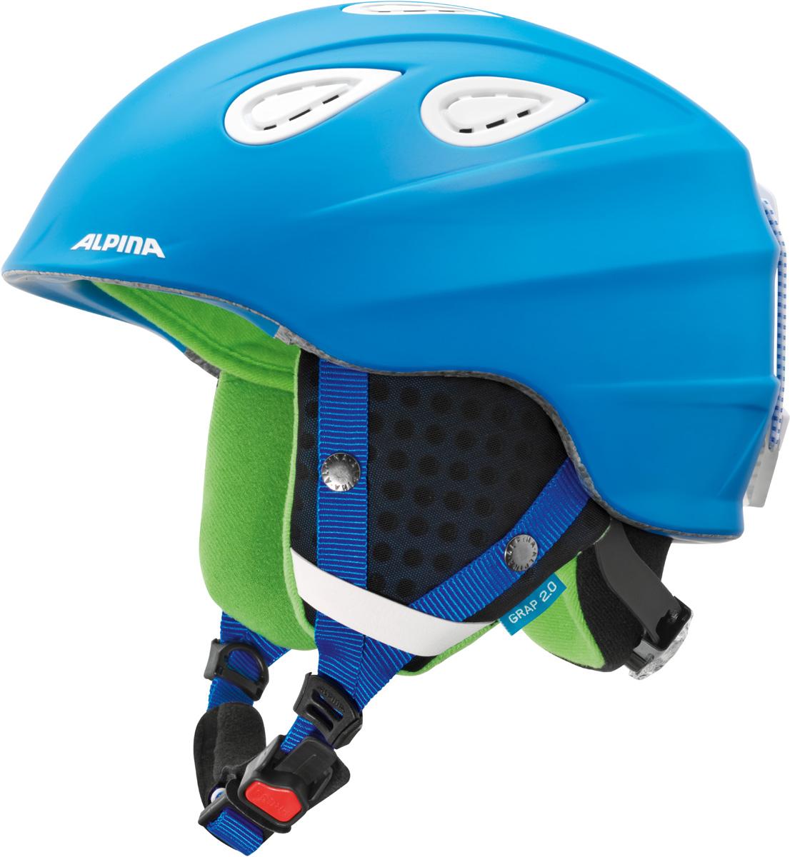 """Шлем горнолыжный Alpina """"Grap 2.0"""", цвет: синий. A9085_83. Размер 57-61"""