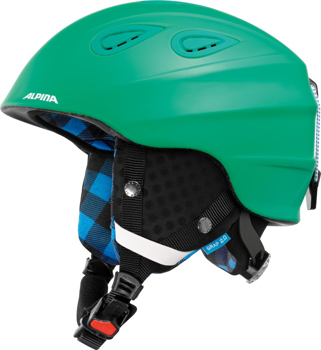 """Шлем горнолыжный Alpina """"Grap 2.0"""", цвет: зеленый. A9085_72. Размер 54-57"""