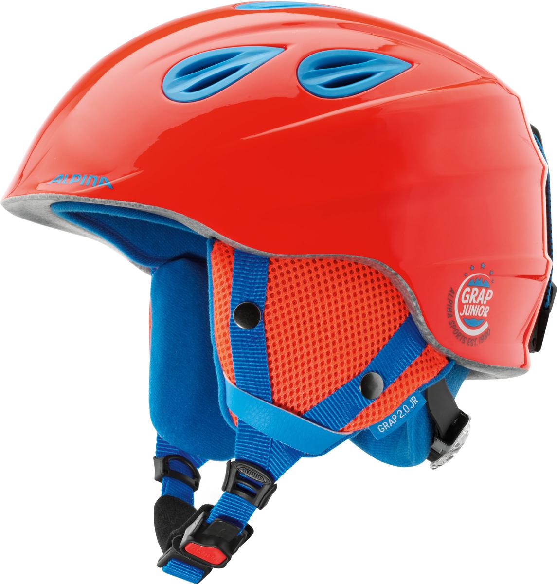 Шлем горнолыжный Alpina GRAP 2.0 JR neon-red. Размер 54-57