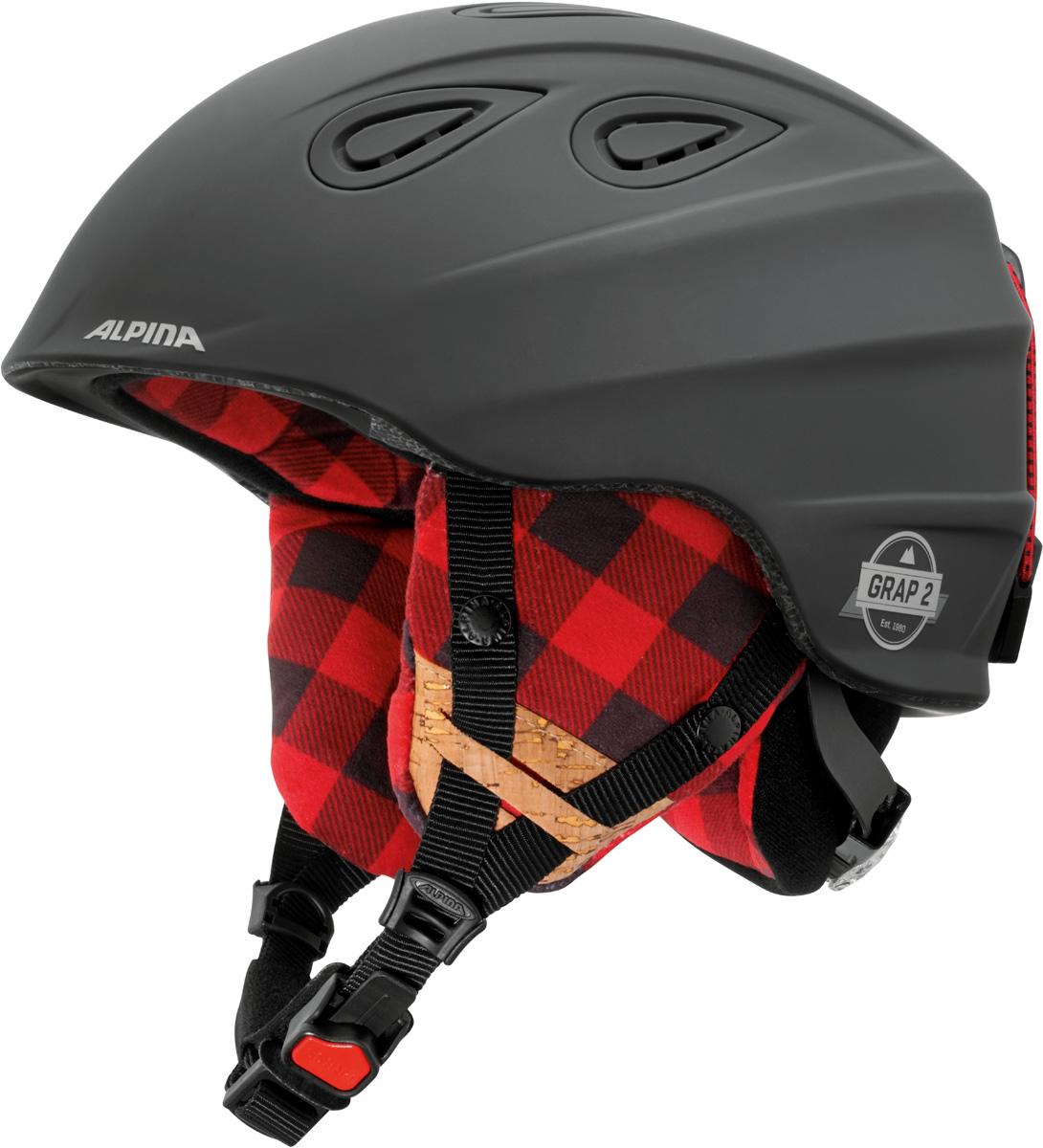 """Шлем горнолыжный Alpina """"Grap 2.0 LE"""", цвет: черный. A9094_31. Размер 54-57"""