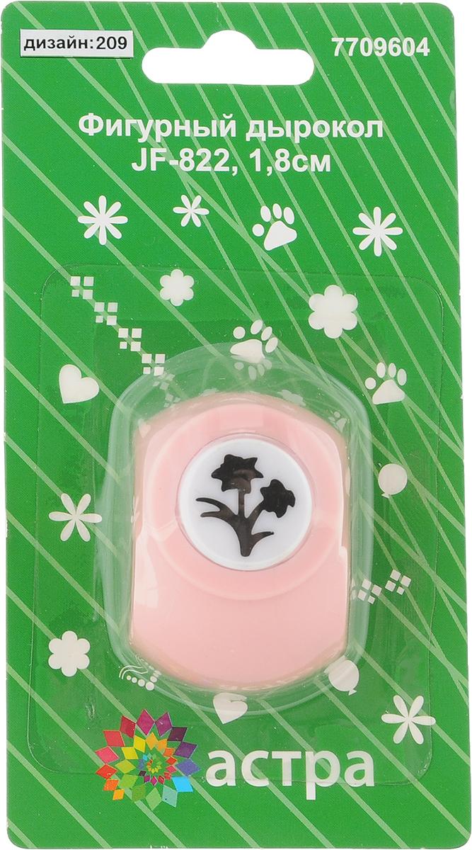 Дырокол фигурный Астра Двойной цветок, цвет: розовый. JF-8227709604_209_розовыйДырокол Астра Двойной цветок поможет вам легко, просто и аккуратно вырезать много одинаковых мелких фигурок. Режущие части компостера закрыты пластмассовым корпусом, что обеспечивает безопасность для детей. Можно использовать вырезанные мотивы как конфетти или для наклеивания. Дырокол подходит для разных техник: декупажа, скрапбукинга, декорирования. Размер дырокола: 4 х 3 х 4 см. Диаметр вырезанной фигурки: 1,5 см.
