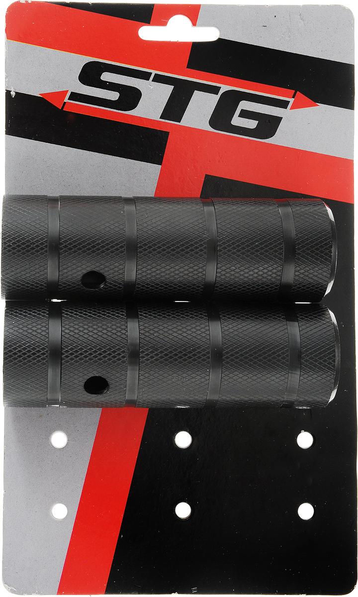 Пеги для BMX STG, цвет: черный, диаметр 3,8 см, длина 11 см, 2 шт. Х73988 цена
