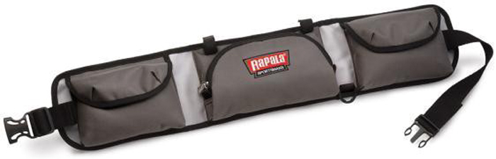 Пояс рыболовный Rapala Sportsman 10 Tackle Belt, цвет: серый