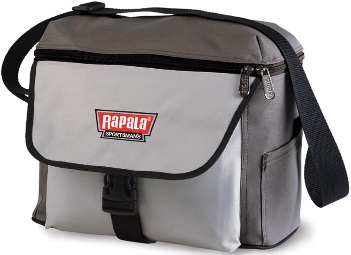 Сумка рыболовная Rapala Sportsman 12 Shoulder Bag, цвет: серый сумка рыболовная rapala sportsman 31 tackle bag цвет серый