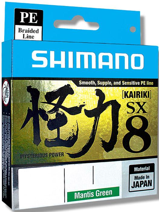 Леска плетеная Shimano Kairiki PE, 0,180 мм, 150 м, 14 кг