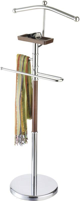 """Вешалка для костюма Axentia """"Godiva"""", напольная, с полкой для телефона, цвет: серебристый, коричневый"""