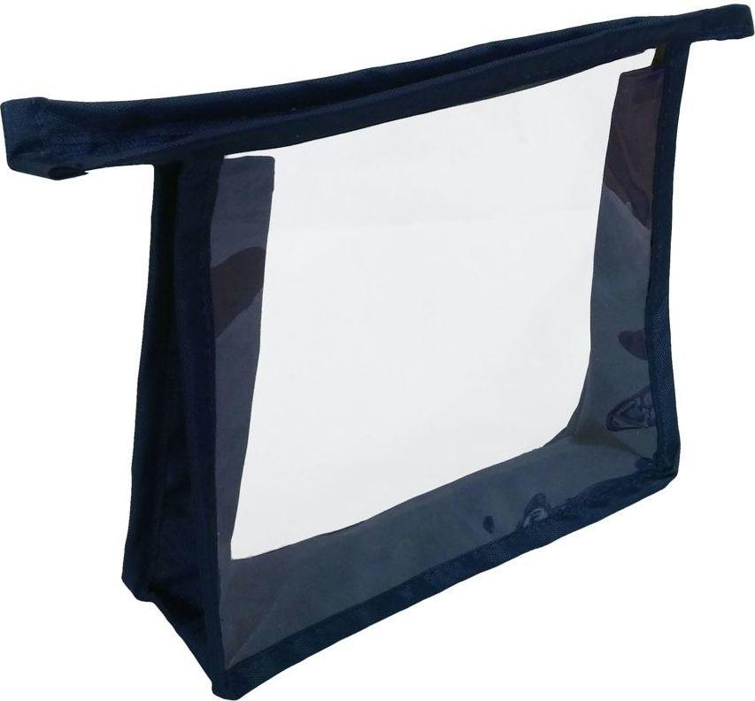 Косметичка Cross Case, цвет: синий, прозрачный, CC-2003 косметичка для жидкостей liquidcase