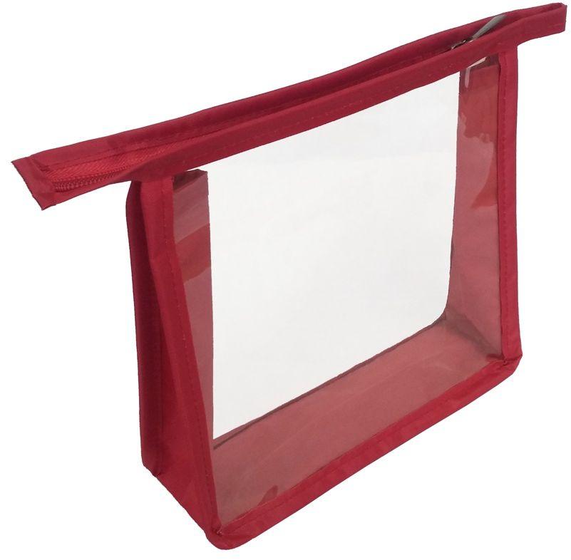 Косметичка Cross Case, цвет: красный, прозрачный. CC-2103 косметичка для жидкостей liquidcase