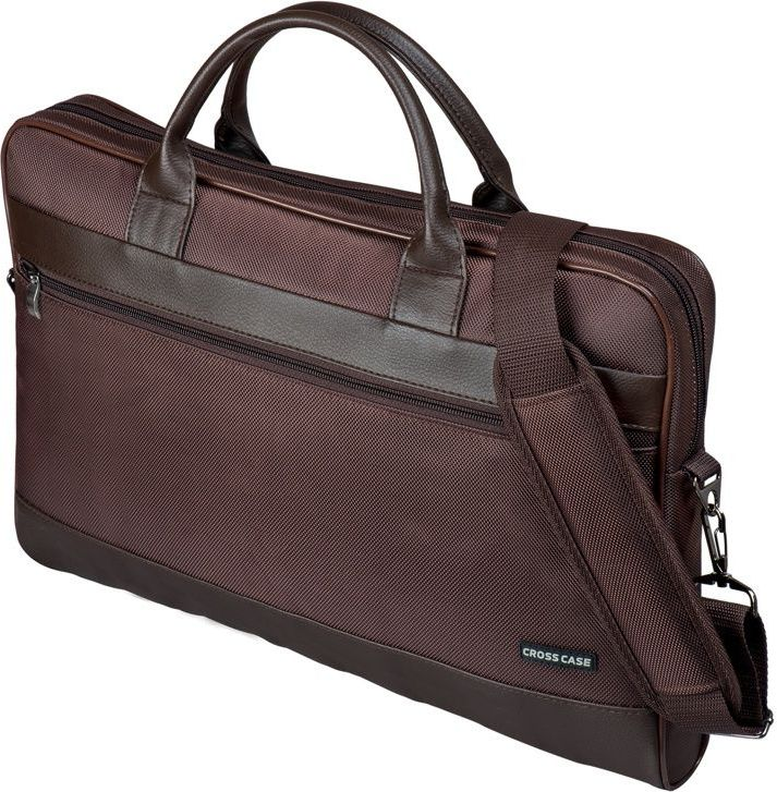 Сумка для ноутбука Cross Case, цвет: темно-коричневый. CC17-014 аксессуар сумка 17 3 cross case cc17 014 claret