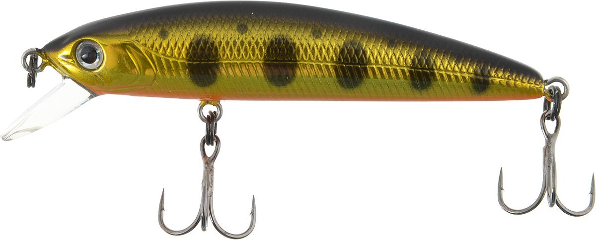 Воблер Tsuribito Minnow F, цвет: черный, золотой (052), длина 6 см, 3,7 г