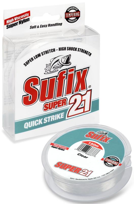 Леска Sufix Super 21, цвет: прозрачный, 0,20 мм, 150 м, 3,5 кг