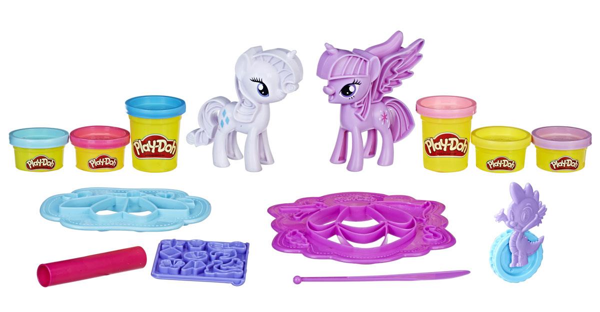 Play-Doh Набор для лепки Принцесса Твайлайт Спаркл и Рарити Модное развлечение play doh набор для творчества туалетный столик