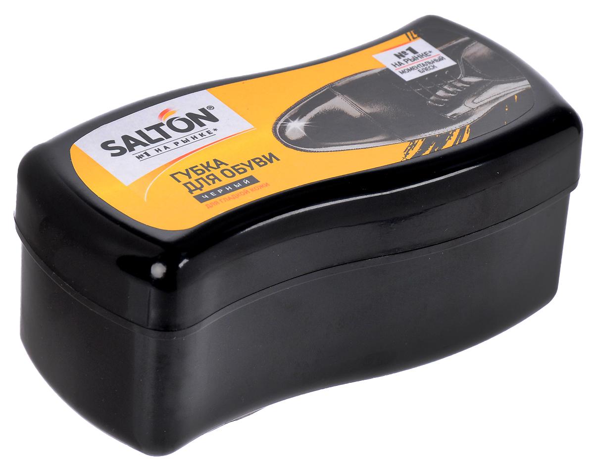 Губка Salton Волна для обуви из гладкой кожи, цвет: черный, 12 х 5,5 х 5,5 см губка д обуви salton с дозатором черный
