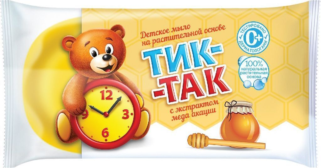Свобода Мыло детское Тик-Так с экстрактом меда акации 75 г