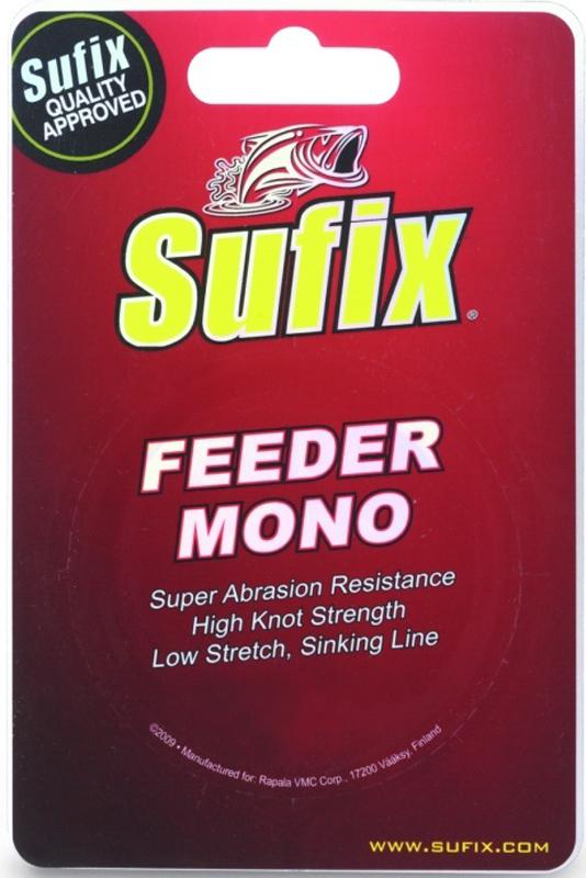 Леска Sufix Feeder Mono, цвет: красный, 0,20 мм, 300 м, 3,3 кг