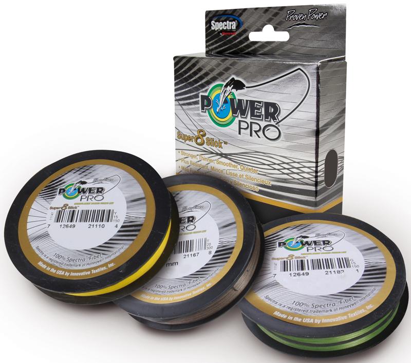 Леска плетеная Power Pro Super8Slick, цвет: зеленый, 135 м, 0,23 мм, 15 кг