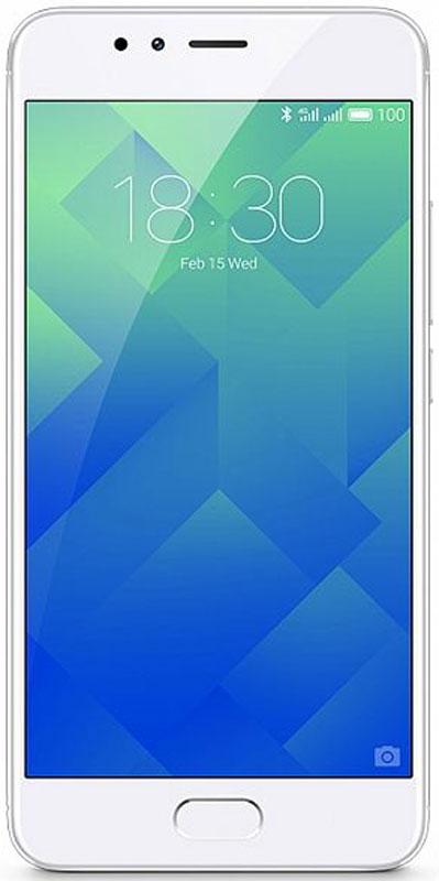 Смартфон Meizu M5s 16 GB, белый, серебристый смартфон meizu m5s m612h 3 16gb silver серебристый m612h 16 s