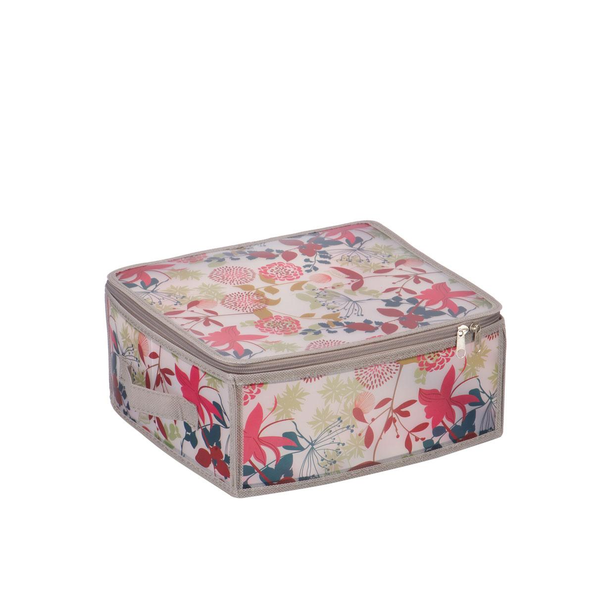 Короб для хранения Handy Home Лето, складной, 30 х 28 х 15 см короб для хранения обуви handy homeроза 4 секции 94 х 60 х 15 см