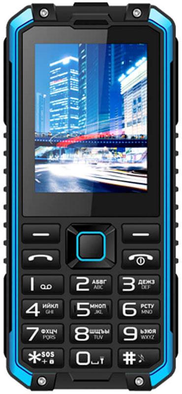 Мобильный телефон Vertex K204, черный, синий телефон