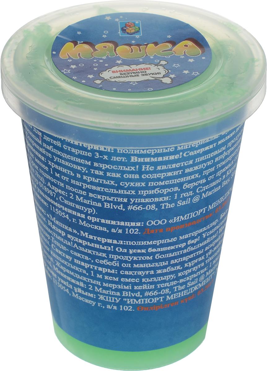 1TOY Жвачка для рук Мяшка цвет зеленый 110 г наборы для творчества 1toy мяшка 1тoy мелкие пакости яйцо двухцветное 50 г