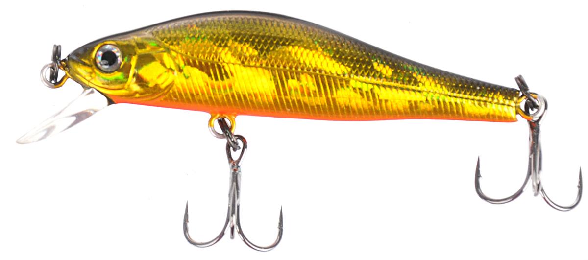 Воблер Tsuribito Jerkbait 50SP-SR, цвет: золотой, оранжевый (002), длина 5 см, 3 г воблер tsuribito deep shaker 100f 002 длина 10 см вес 31 г 28895