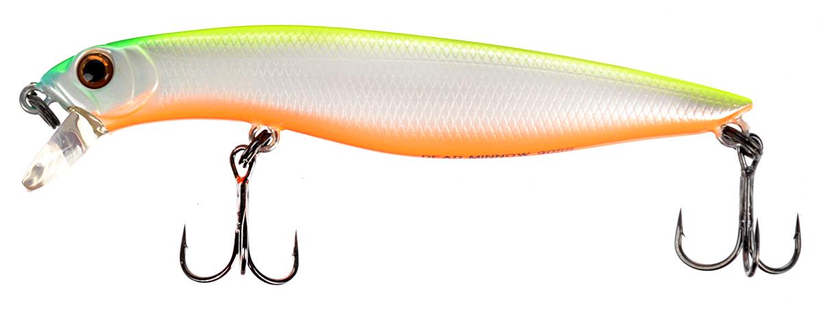 Воблер Tsuribito Dead Minnow SS, цвет: салатовый, белый, оранжевый (038), длина 9 см, 11,70 г