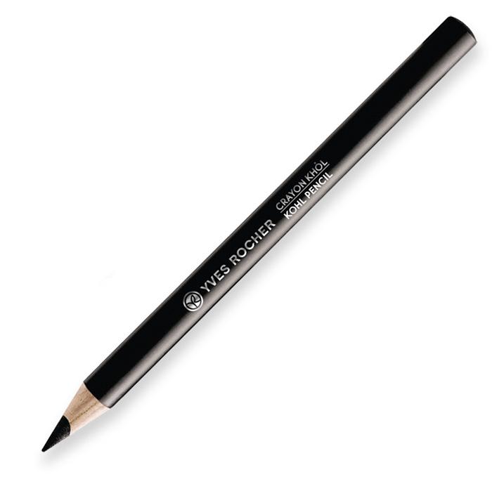 Yves Rocher карандаш для контура глаз 3 в 1, 01 черный, 1,3 г