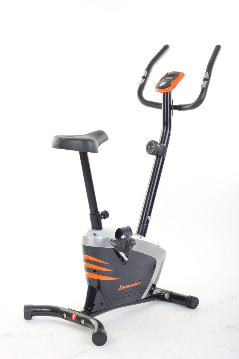 Велотренажер Iron Body 7041BK, магнитный, цвет: черный велотренажер iron body 7090bk 1