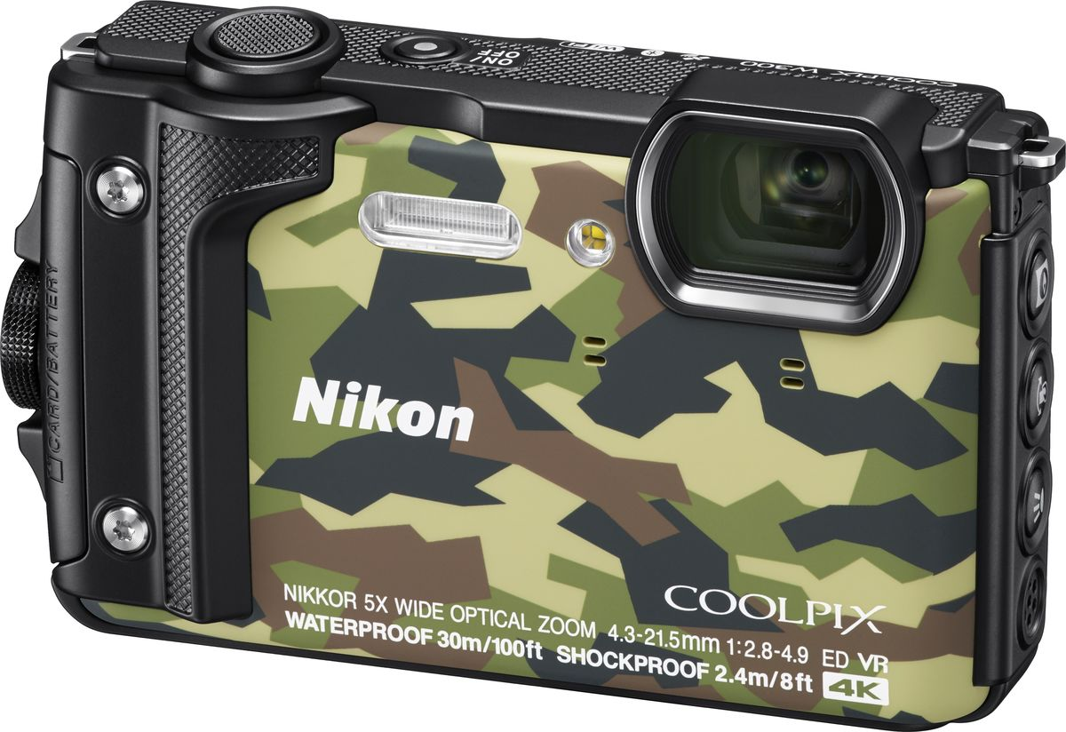 Компактный фотоаппарат Nikon Coolpix W300, Camouflage