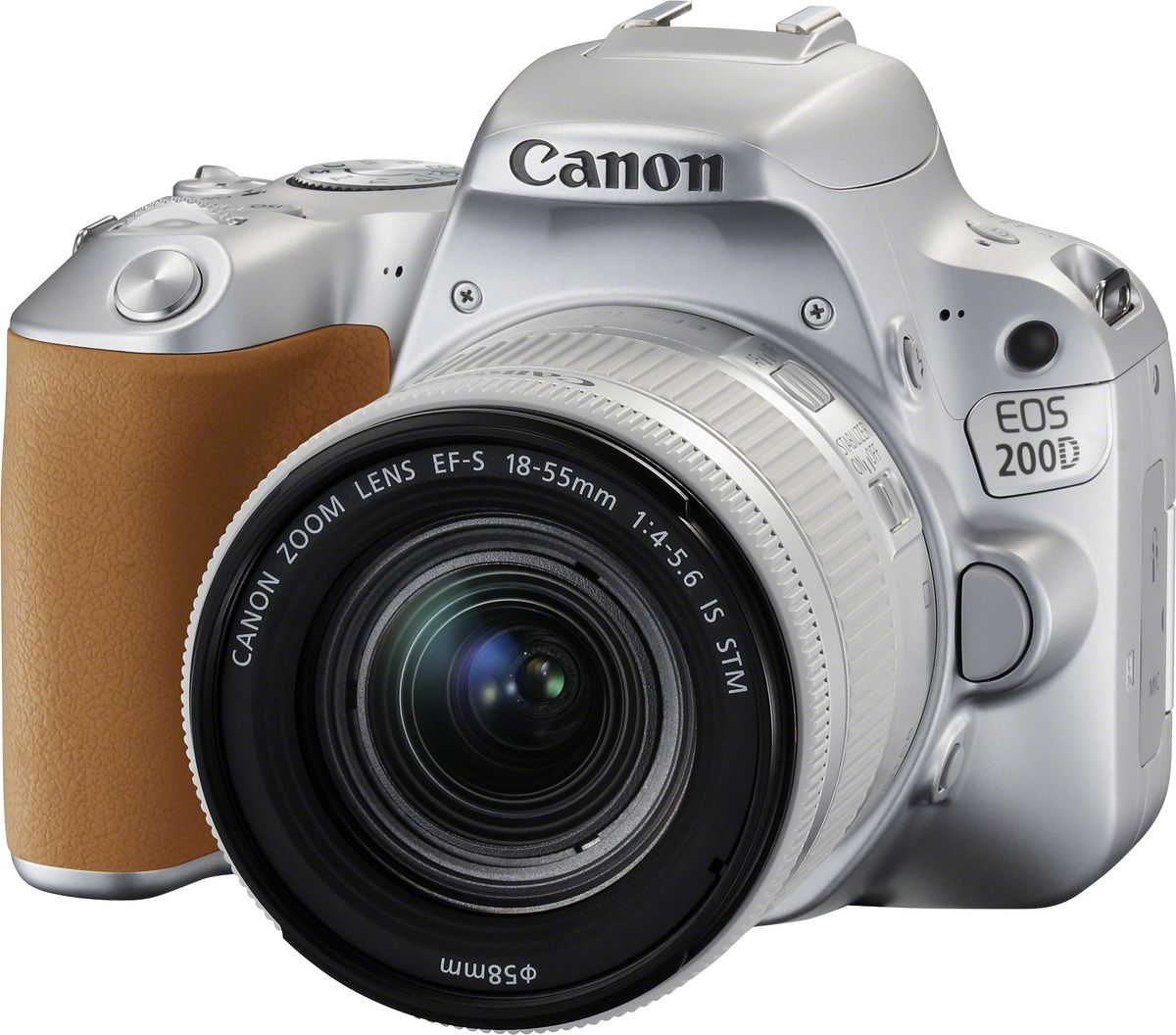 Зеркальный фотоаппарат Canon EOS 200D Kit 18-55 IS STM, Silver