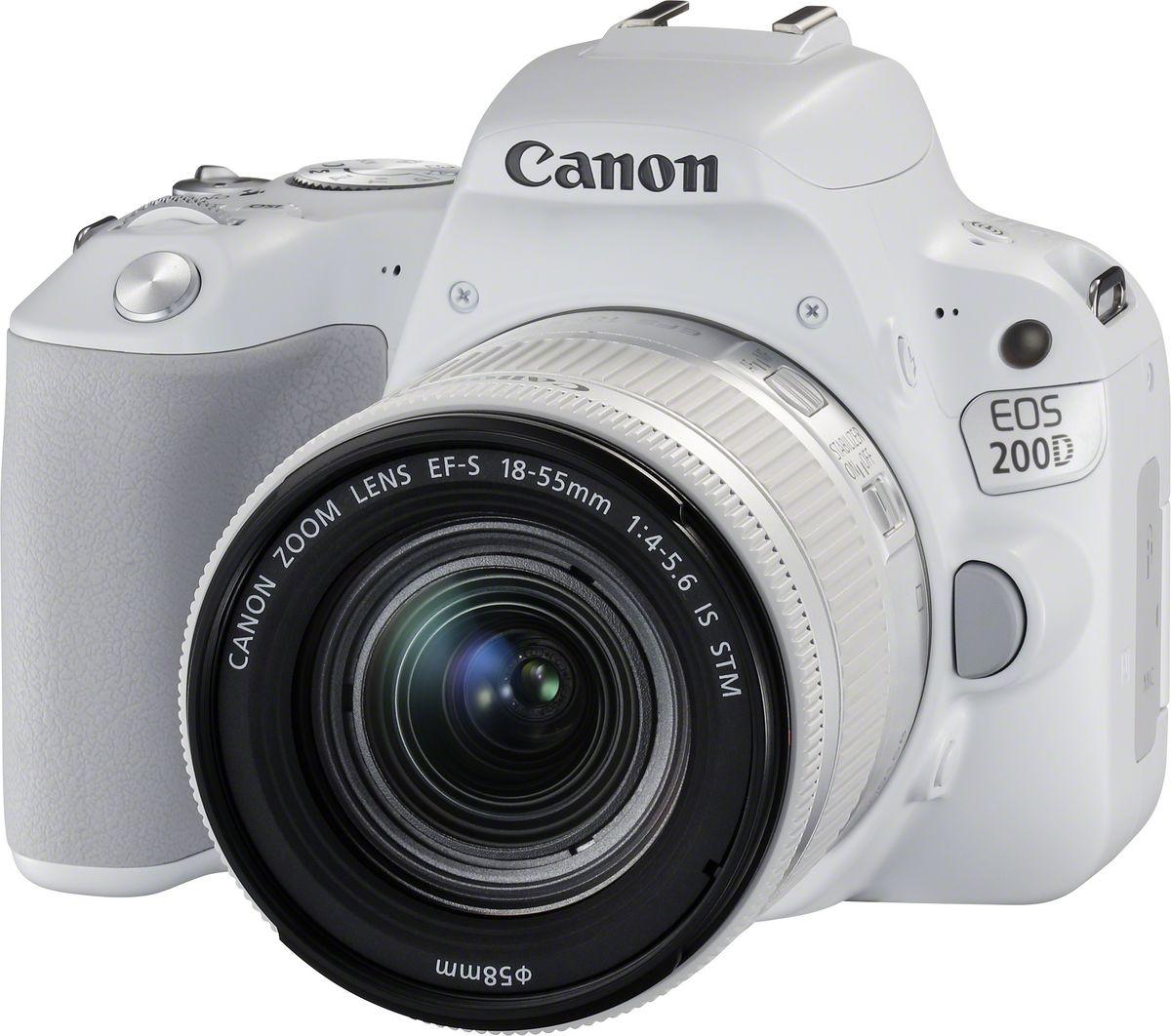 Зеркальный фотоаппарат Canon EOS 200D Kit 18-55 IS STM, White