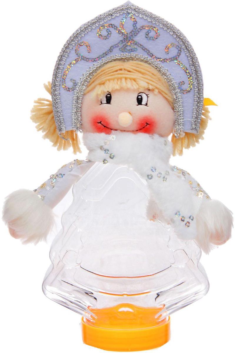 Конфетница Sima-land Снегурочка с шарфиком, вместимость 320 г конфетница sima land дед мороз в колпачке цвет красный вместимость 150 г