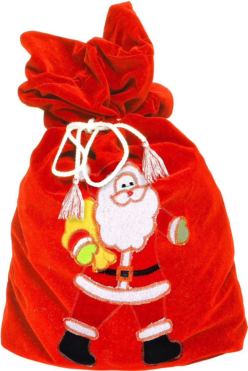 Упаковка подарочная Страна Карнавалия Карнавал. Мешок поздравление Деда Мороза, цвет: красный, 48 х 70 см упаковка подарочная страна карнавалия конфетница дедушка мороз цвет красный белый