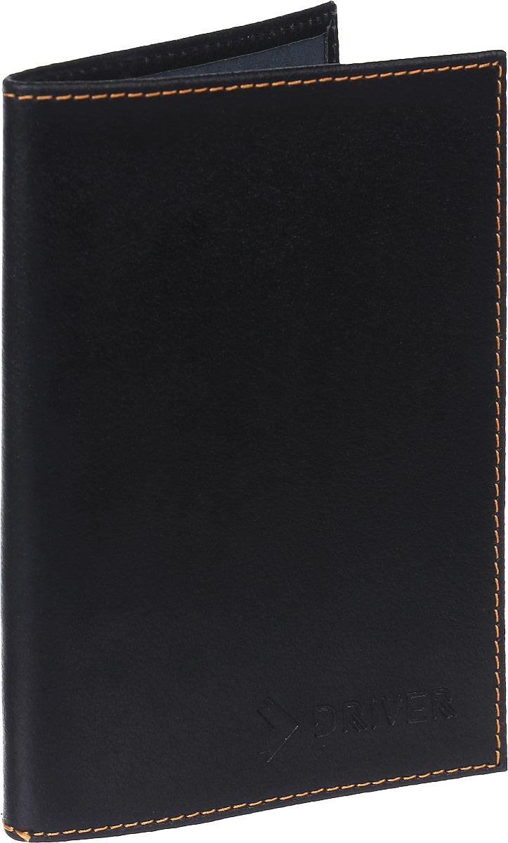 Обложка для паспорта Driver Italian Line, цвет: черный. ОП5 driver для ноутбука