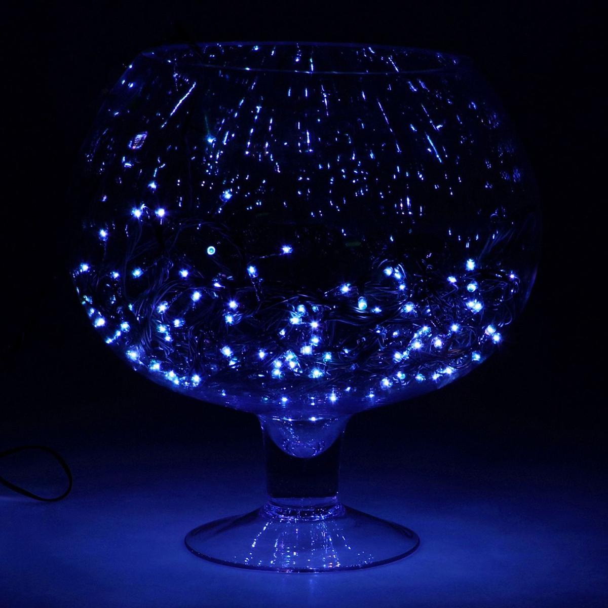 """Гирлянда Luazon """"Метраж"""", 8 режимов, 180 ламп, 220 V, 7 м, цвет: синий. 671009"""