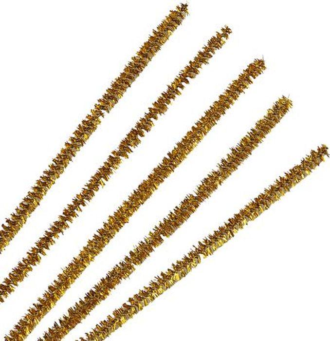 Синель-проволока люрекс Астра, цвет: золотой, 0,6 х 30 см, 20 шт7719571_A-081 золотойИз пушистой проволоки Астра, выполненной из полиэстера и металла, можно мастерить разные поделки - плоские и объемные. Такая проволока послужит практичным материалом в валянии и изготовлении игрушек. Проволока - это очень распространенный и легкодоступный материал. Ее изготавливают из разных металлов и покрывают разными материалами, благодаря чему она обладает прекрасными декоративными свойствами. Проволока является хорошим материалом для плетения, а для достижения эффектного украшения можно сочетать несколько цветов проволоки.