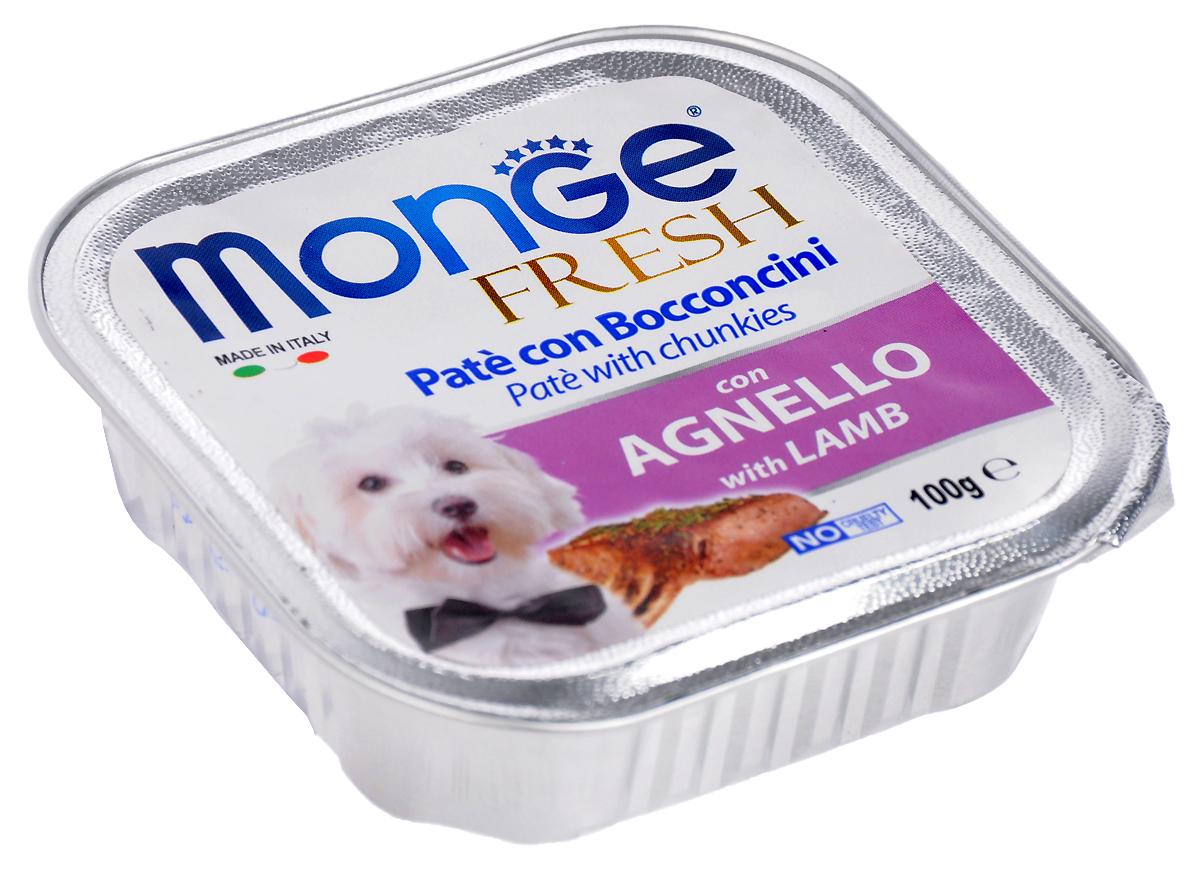 Консервы для собак Monge Fresh, с ягненком, 100 г консервы для собак monge fresh с ягненком 100 г