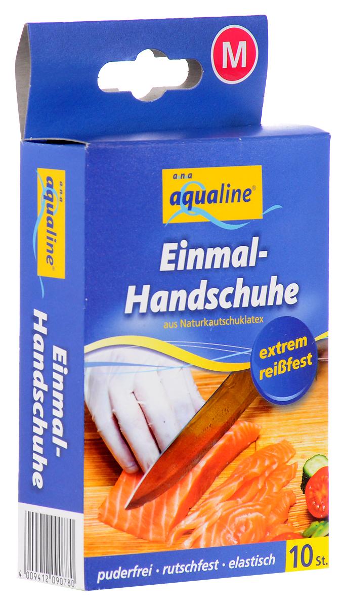 "Набор одноразовых перчаток ""Aqualine"", размер: М, 10 шт"