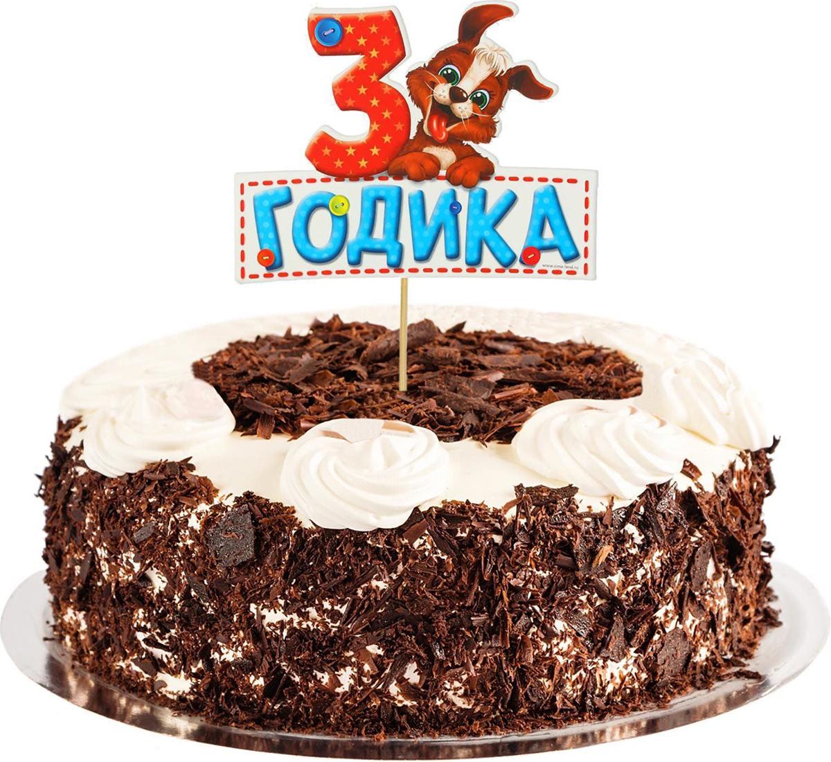 Страна Карнавалия Топпер в торт 3 годика Малыш1490963Подготовка к праздникам — это весьма непростое занятие, которое требует много времени Подчеркнуть особую атмосферу торжества и без лишних хлопот украсить торт помогут наши топперы Просто вставьте их в сладкое угощение — они добавят яркости вашему мероприятию и сделают его запоминающимся