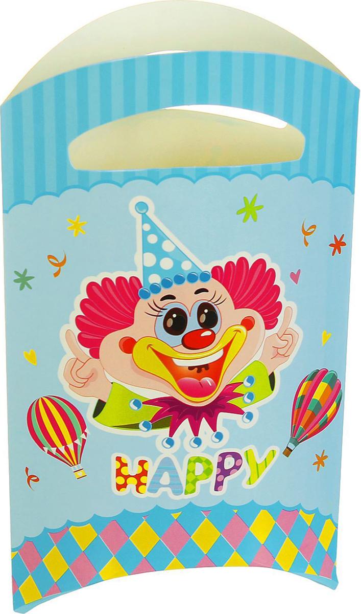 Страна Карнавалия Пакет подарочный Клоун цвет голубой 14 x 24 см 6 шт