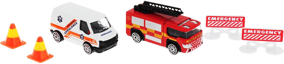 HTI Набор машинок Roadsterz Транспорт спасателей машины hti машинка roadsterz пожарная