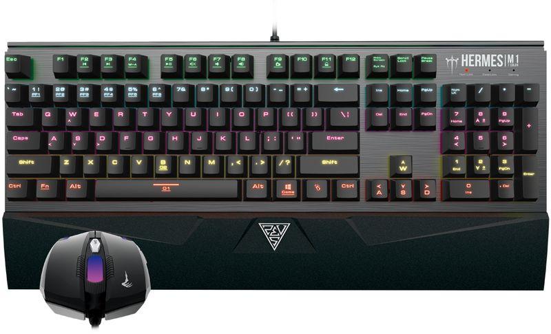 Фото - Комплект игровая мышь + клавиатура Gamdias Hermes M1 Combo, Black gamdias ares 7 color combo клавиатура мышь