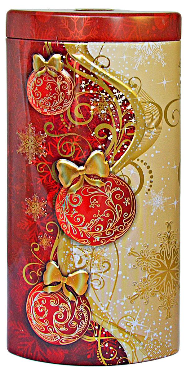 """Избранное из моря чая """"Коллекция Долька. Новогодние шары. Красная"""" чай черный листовой, 50 г"""