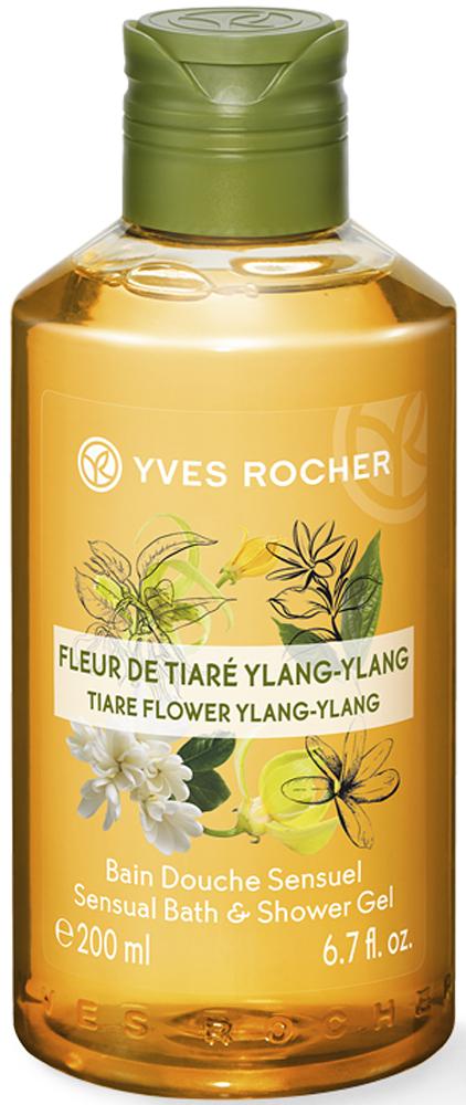 цена на Yves Rocher гель для душа и ванны Тиаре и иланг-иланг, 400 мл