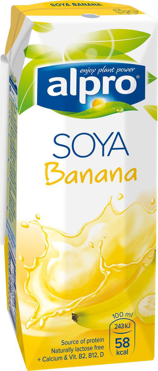 Alpro Соево-банановый напиток, обогащенный кальцием и витаминами, 0,25л haas пудинг банановый 40 г