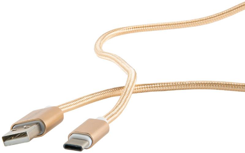 Red Line дата-кабель USB-Type-C 2.0, Gold (нейлоновая оплетка) дата кабель red line smart high speed usb type c синий