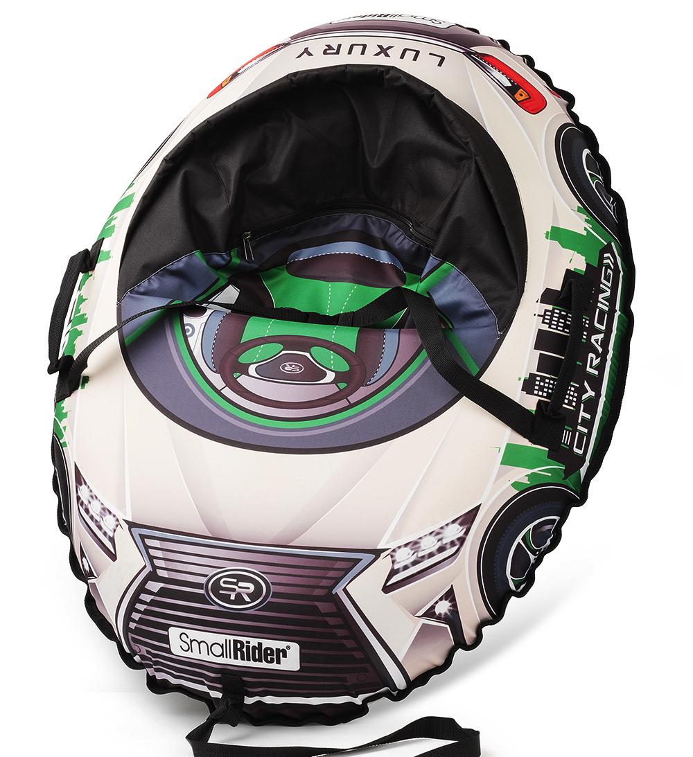 Small Rider Надувные санки-тюбинг с сиденьем и ремнями Snow Cars 3 LX цвет зеленый