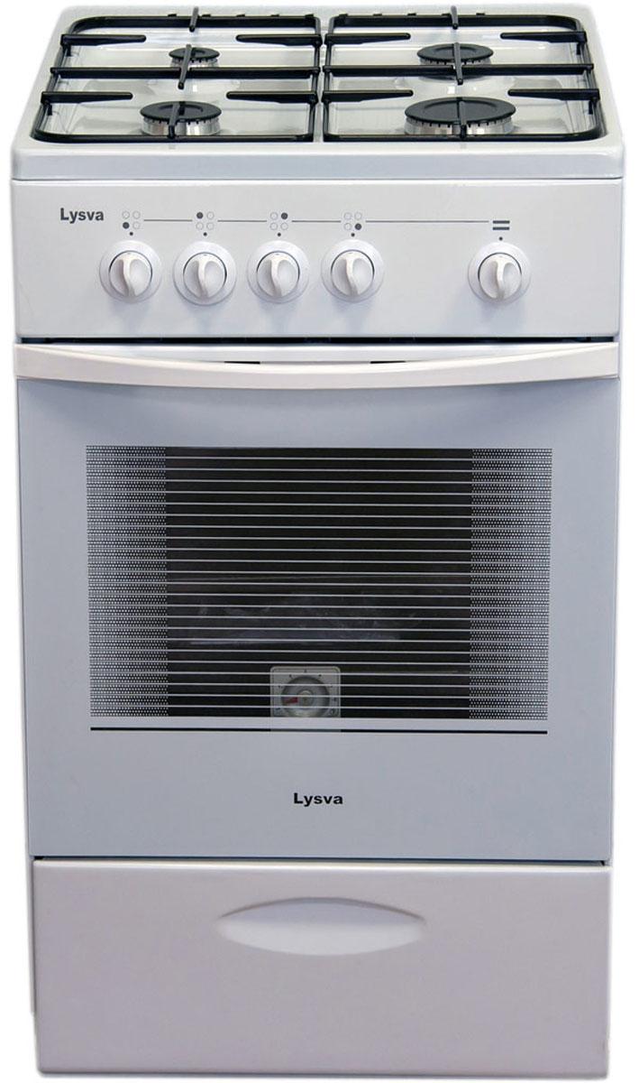 Плита Лысьва ГП 400 МС СТ-2у, газовая, белый плита газовая лысьва гп 400 м2с 2у белый стеклянная крышка