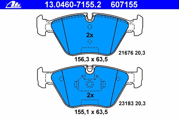Колодки тормозные дисковые Ate 13046071552 колодки тормозные дисковые ate 13046070792